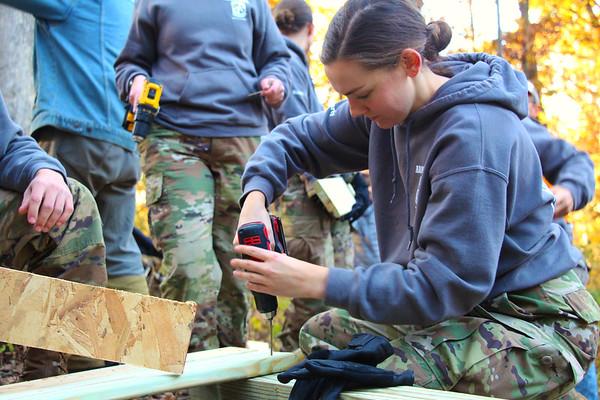 2019 UWL ROTC Students Bridge Build Hixon Forest 0007