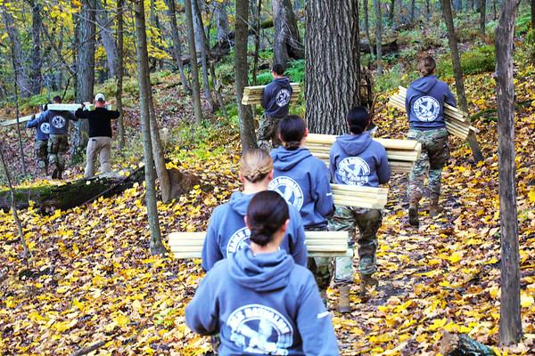 2019 UWL ROTC Students Bridge Build Hixon Forest 0003