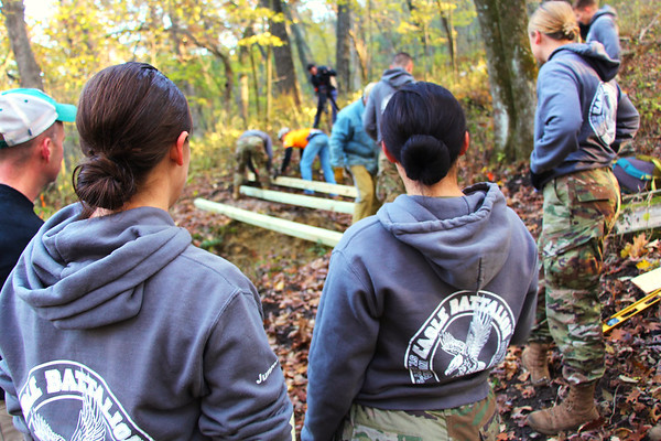 2019 UWL ROTC Students Bridge Build Hixon Forest 0004