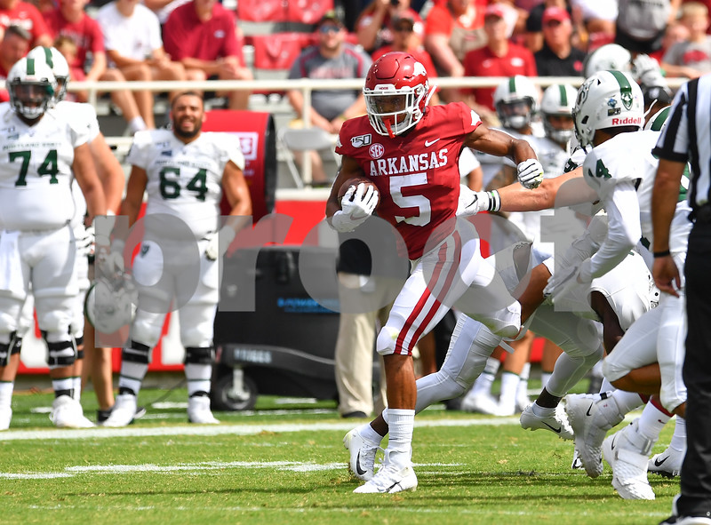 Portland State @ University of Arkansas  football game. Game was played at Donald W. Reynolds Razorback Stadium in Fayetteville Arkansas.