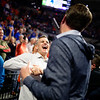 Billy Donovan is honored at halftime as the basketball court is named Billy Donovan Court at Exacteh Arena in Gainesville, Florida.  February 15th, 2020. Gator Country Photo by David Bowie.