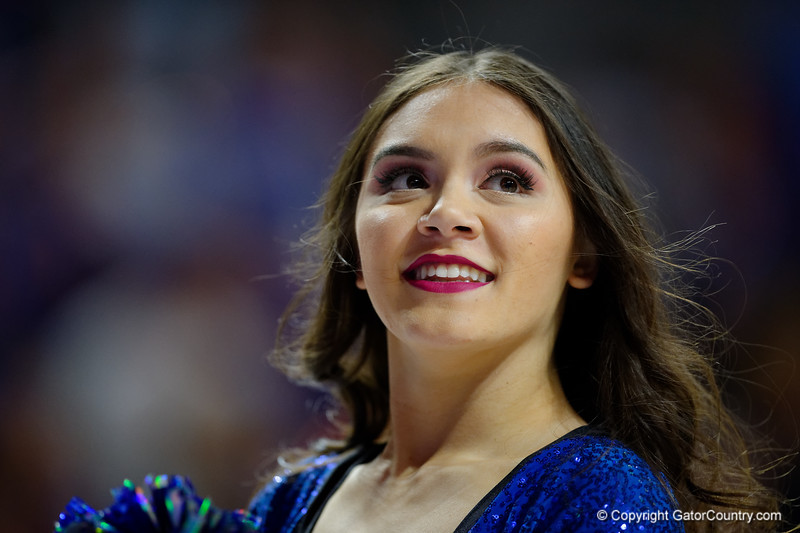 The Florida Dazzlers performing as the Florida Gators mens basketball team hosted the Vanderbilt Commodores at Exacteh Arena in Gainesville, Florida.  February 15th, 2020. Gator Country Photo by David Bowie.