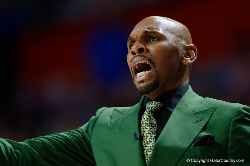 Vanderbilt Commodores head coach Jerry Stackhouse as the Florida Gators mens basketball team hosted the Vanderbilt Commodores at Exacteh Arena in Gainesville, Florida.  February 15th, 2020. Gator Country Photo by David Bowie.