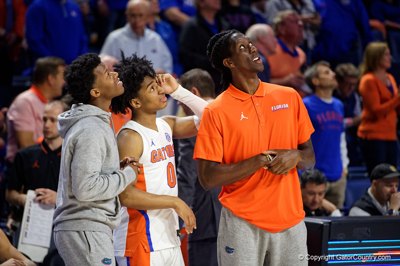 as the Florida Gators mens basketball team hosted the Vanderbilt Commodores at Exacteh Arena in Gainesville, Florida.  February 15th, 2020. Gator Country Photo by David Bowie.