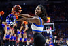 The Florida Gators Dazzlers performing as the Florida Gators mens basketball team defeats the #4 Auburn Tigers 69-47 at Exacteh Arena in Gainesville, Florida.  January 18th, 2020. Gator Country Photo by David Bowie.