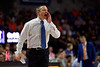 Florida Gators head coach Mike White as the Florida Gators mens basketball team defeats the #4 Auburn Tigers 69-47 at Exacteh Arena in Gainesville, Florida.  January 18th, 2020. Gator Country Photo by David Bowie.