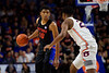 Florida Gators guard Noah Locke (10) as the Florida Gators mens basketball team defeats the #4 Auburn Tigers 69-47 at Exacteh Arena in Gainesville, Florida.  January 18th, 2020. Gator Country Photo by David Bowie.