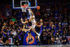 Florida Gators forward Keyontae Johnson (11) and Florida Gators forward Kerry Blackshear Jr. (24) fight for a rebound as the Florida Gators mens basketball team defeats the #4 Auburn Tigers 69-47 at Exacteh Arena in Gainesville, Florida.  January 18th, 2020. Gator Country Photo by David Bowie.