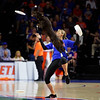Fury the Dog performs as halftime as the #6 Florida Gators mens basketball team hosted the Florida State Seminoles at Exacteh Arena in Gainesville, Florida.  November 10th, 2019. Gator Country Photo by David Bowie.