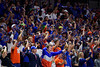 Gators fans cheer on during the second half as the #6 Florida Gators mens basketball team hosted the Florida State Seminoles at Exacteh Arena in Gainesville, Florida.  November 10th, 2019. Gator Country Photo by David Bowie.