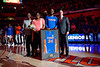 Florida Gators guard Christopher Sutherland (34) during senior day ceremonies as the Florida Gators mens basketball team hosted the Kentucky Wildcats at Exacteh Arena in Gainesville, Florida.  March 7th, 2020. Gator Country Photo by David Bowie.
