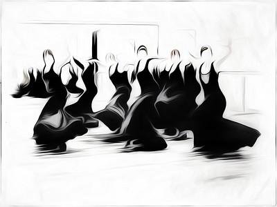 flamenco dancers - Anastasia Tompkins PSA Score 11 Award of Merit