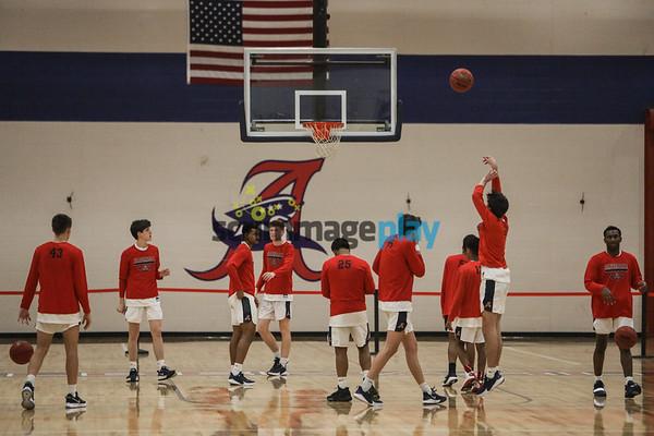 Region 5D: AHS versus William Fleming boys basketball 2020