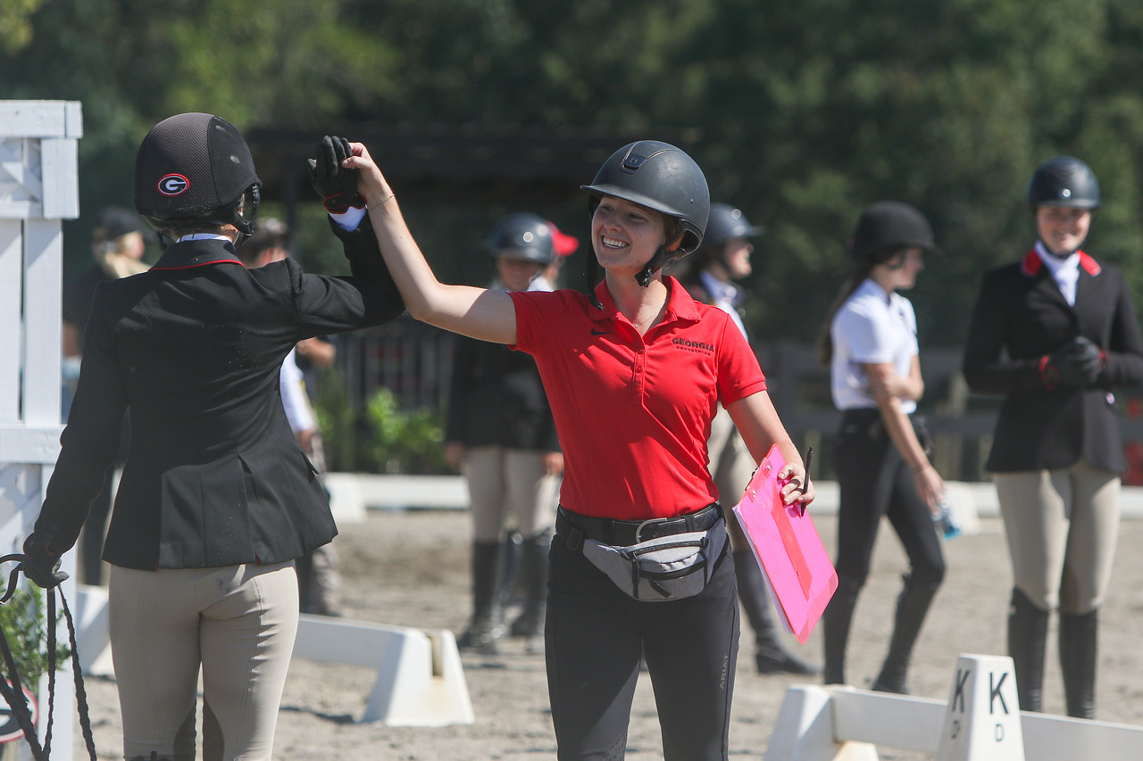 Georgia rider Ali Tritschler during the Red and Black equestrian scrimmage at the UGA Equestrian Complex in Bishop, Ga. (Photo by Chamberlain Smith)