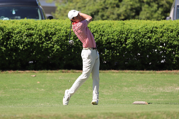 The Georgia men's golf team competes in the Southern Intercollegiate at the Athens Country Club in Athens, Ga., on Monday, April 15, 2019. (Photo by Lauren Tolbert)