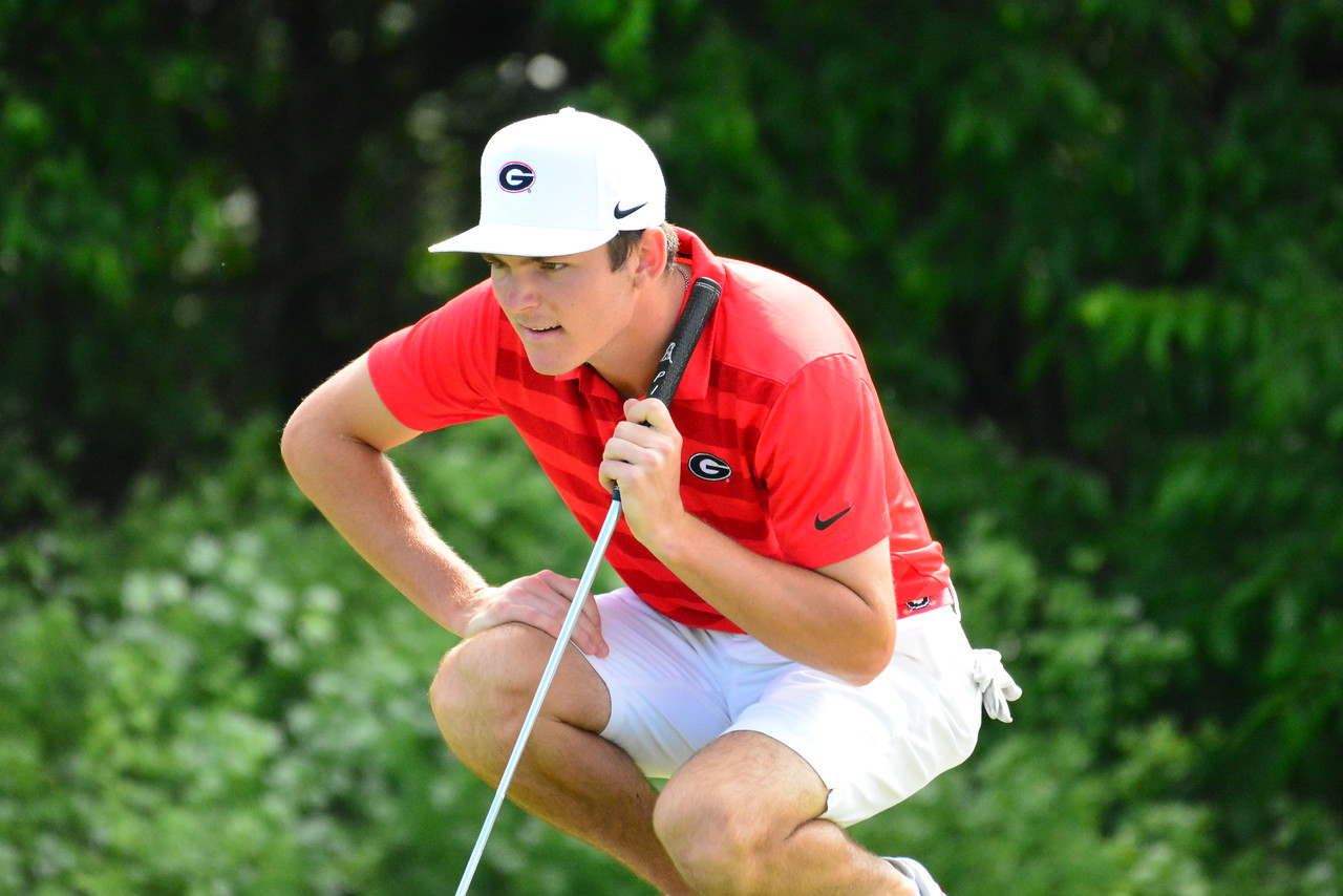 Georgia's Trent Phillips during the NCAA Championships at Blessings Golf Club in Fayetteville, Ark., on Sunday, May 26, 2019. (Photo by Steven Colquitt)
