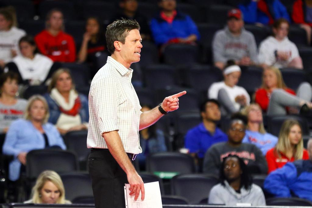 Georgia head coach Tom Black during a match against Ole Miss. (Photo by Tony Walsh)