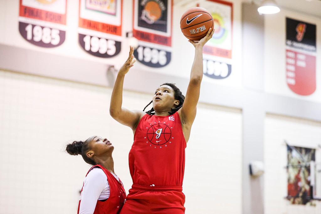 Georgia center Maori Davenport (15) during the Bulldogs' practice session in Athens, Ga., on Thursday, Oct. 22, 2020. (Photo by Tony Walsh)