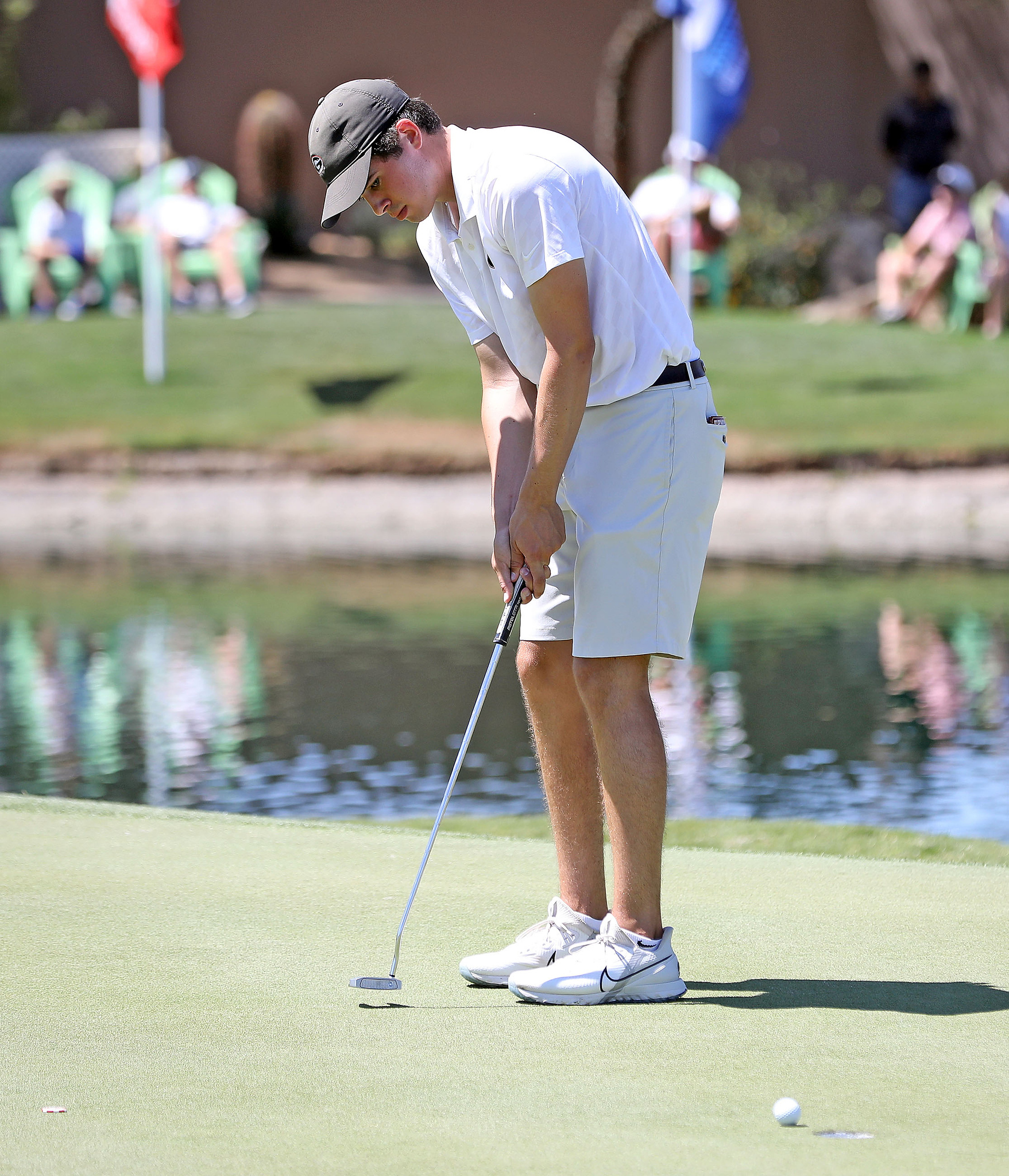 Georgia's Davis Thompson during the second round of the NCAA Championships at Grayhawk Golf Club in Scottsdale, Ariz., on Saturday, May 29, 2021. (Photo by Steven Colquitt)