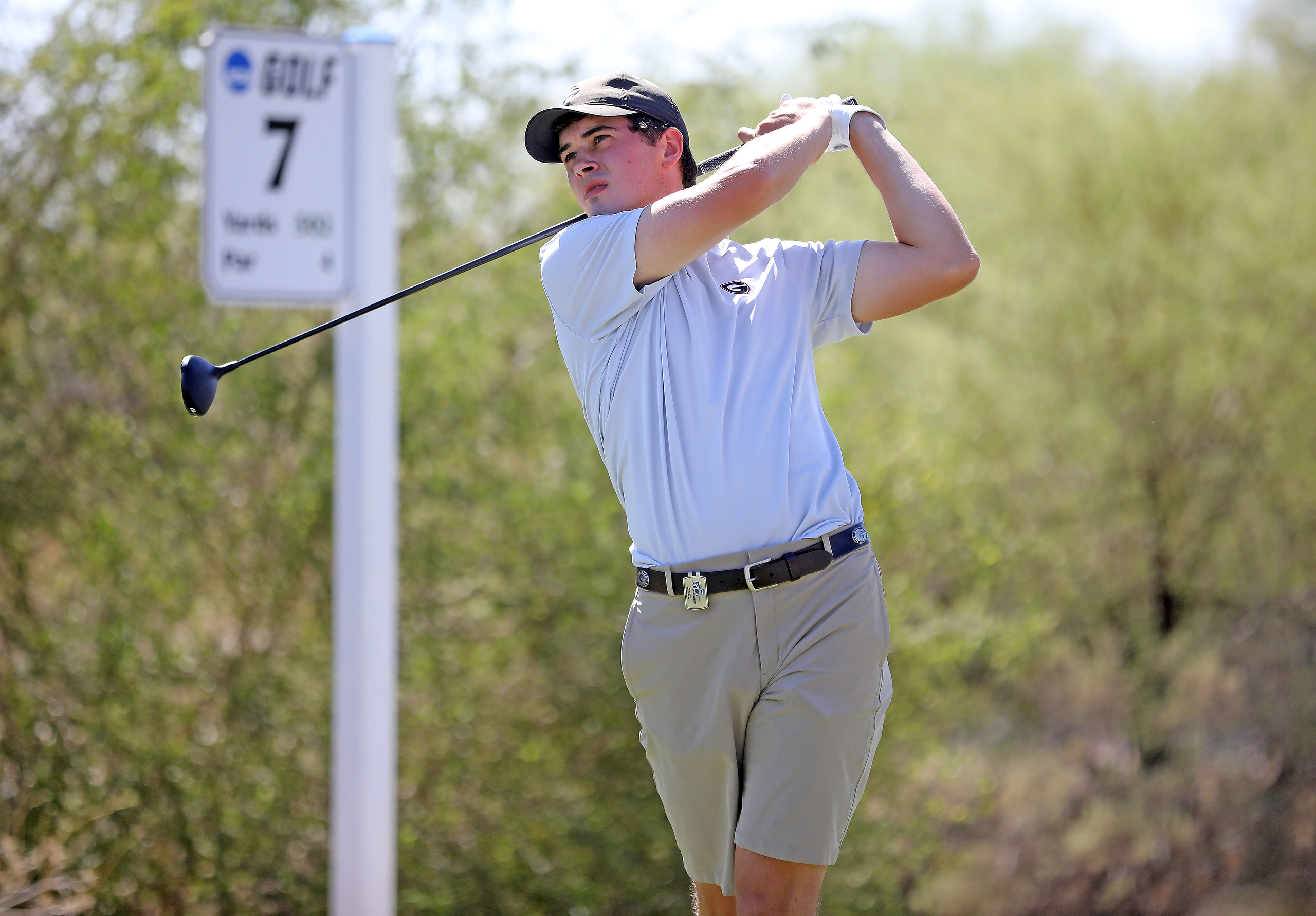 Georgia's Davis Thompson during the first round of the NCAA Championships at Grayhawk Golf Club in Scottsdale, Ariz., on Friday, May 28, 2021. (Photo by Steven Colquitt)