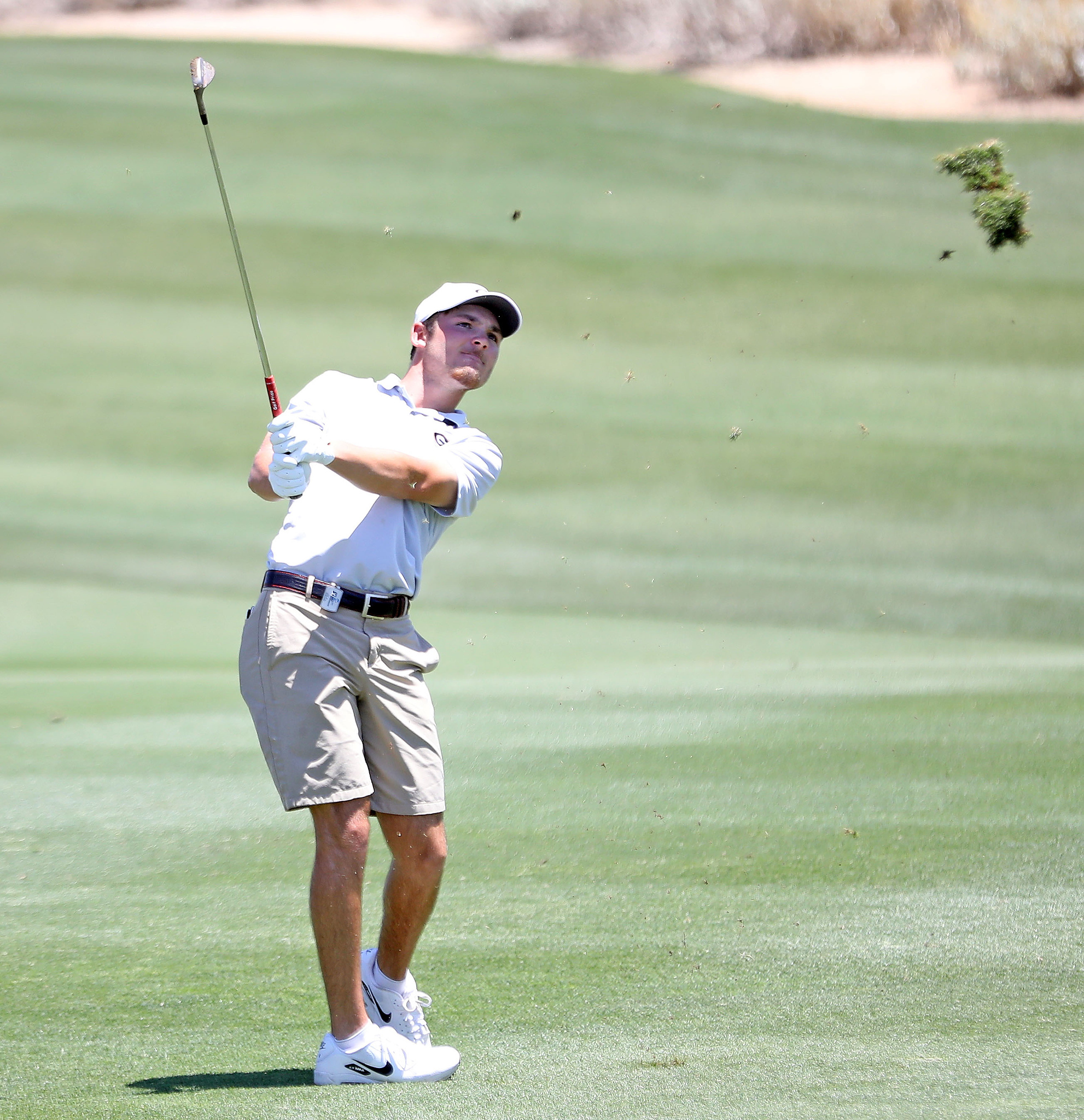 Georgia's Trent Phillips during the first round of the NCAA Championships at Grayhawk Golf Club in Scottsdale, Ariz., on Friday, May 28, 2021. (Photo by Steven Colquitt)