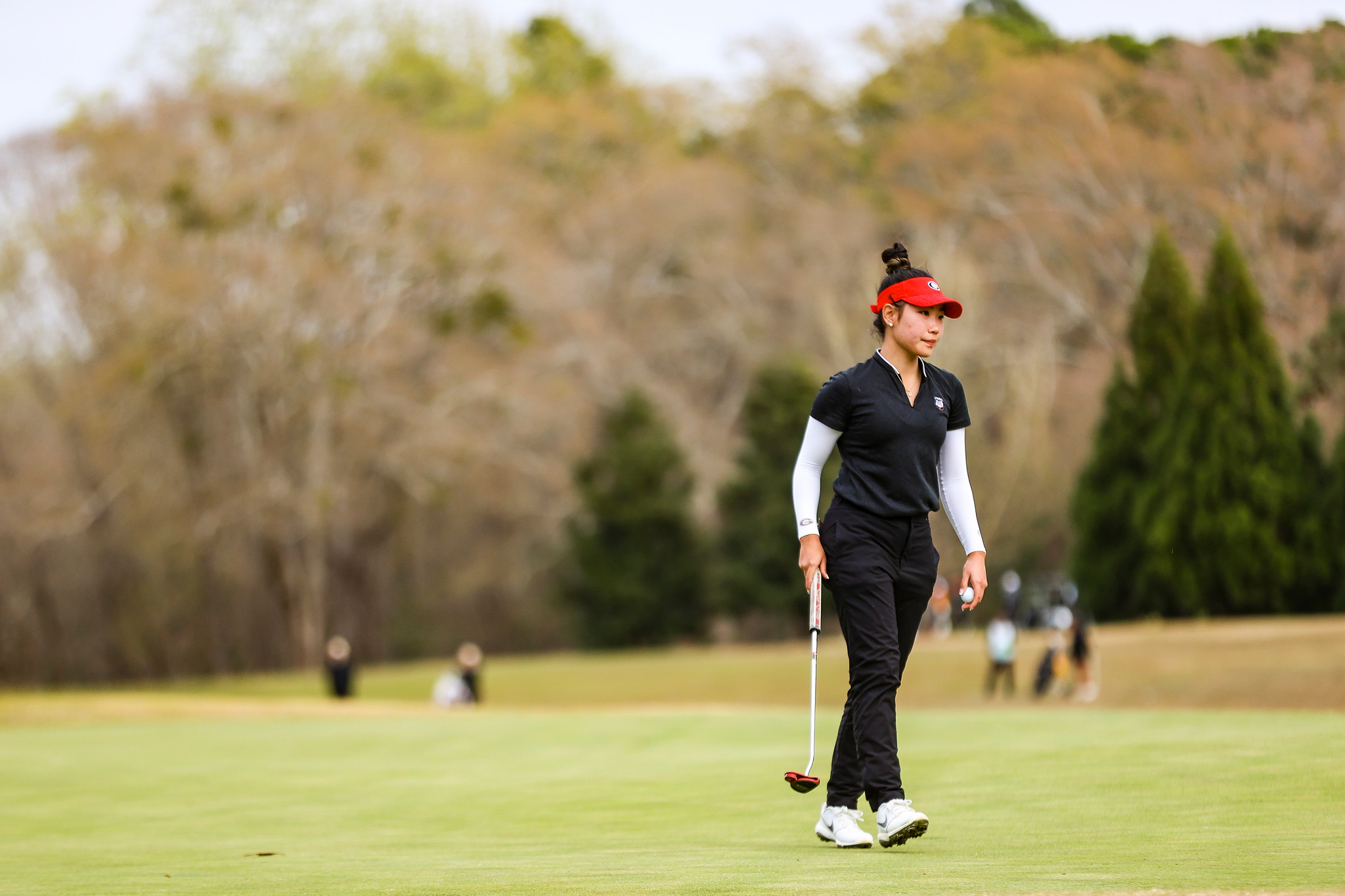 Georgia golfer Jo Hua Hung during the Liz Murphey Collegiate Classic at the UGA Golf Course in Athens, Ga., on Sunday, March 21, 2021. (Photo by Tony Walsh