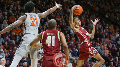 John Ojiako can't collect a rebound away from Boston College's Kamari Williams. (Mark Umansky/TheKeyPlay.com)