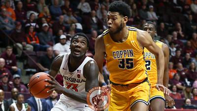 Tyrece Radford looks up at the basket in the second half. (Mark Umansky/TheKeyPlay.com)