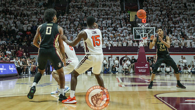 Florida State finds the open three point shot against the Virginia Tech defense. (Mark Umansky/TheKeyPlay.com)