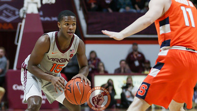 Jalen Cone dribbles the ball in the first half. (Mark Umansky/TheKeyPlay.com)