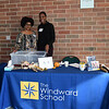 Windward staff members, Najah Frazier and Asante Robinson, welcome attendees to Windward Today.