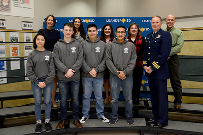 The Lone Star Copmany NJROTC program's marksmanship team won a state championship in December. Out of 290 competitors, Emily Toro ranked first overall in Texas, Ethan Smith fourth, Aidan Gutierrez fifth and Leo Herman finished sixth. Cadet Toro advanced to the JROTC National Championship, which will be held over spring break at Camp Perry, OH. She will be competing against the best Army, Air Force, and Marine marksman.