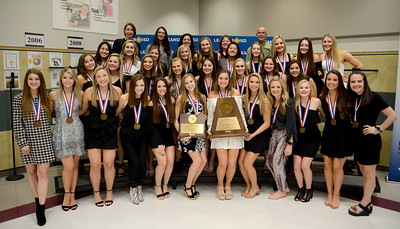 The Vandegrift High School Cheer team won 3rd place at the UIL State Spirit competition's co-ed division.