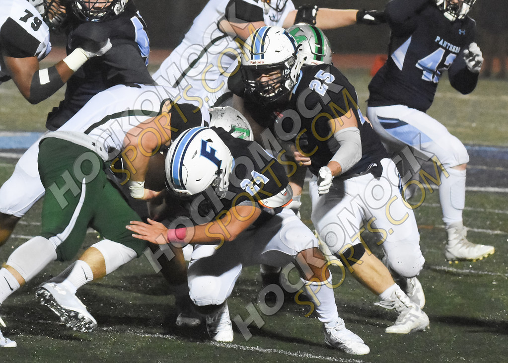 Owen Palmieri and Evan Wertz making a defensive stop (Josh Perry/HockomockSports.com)