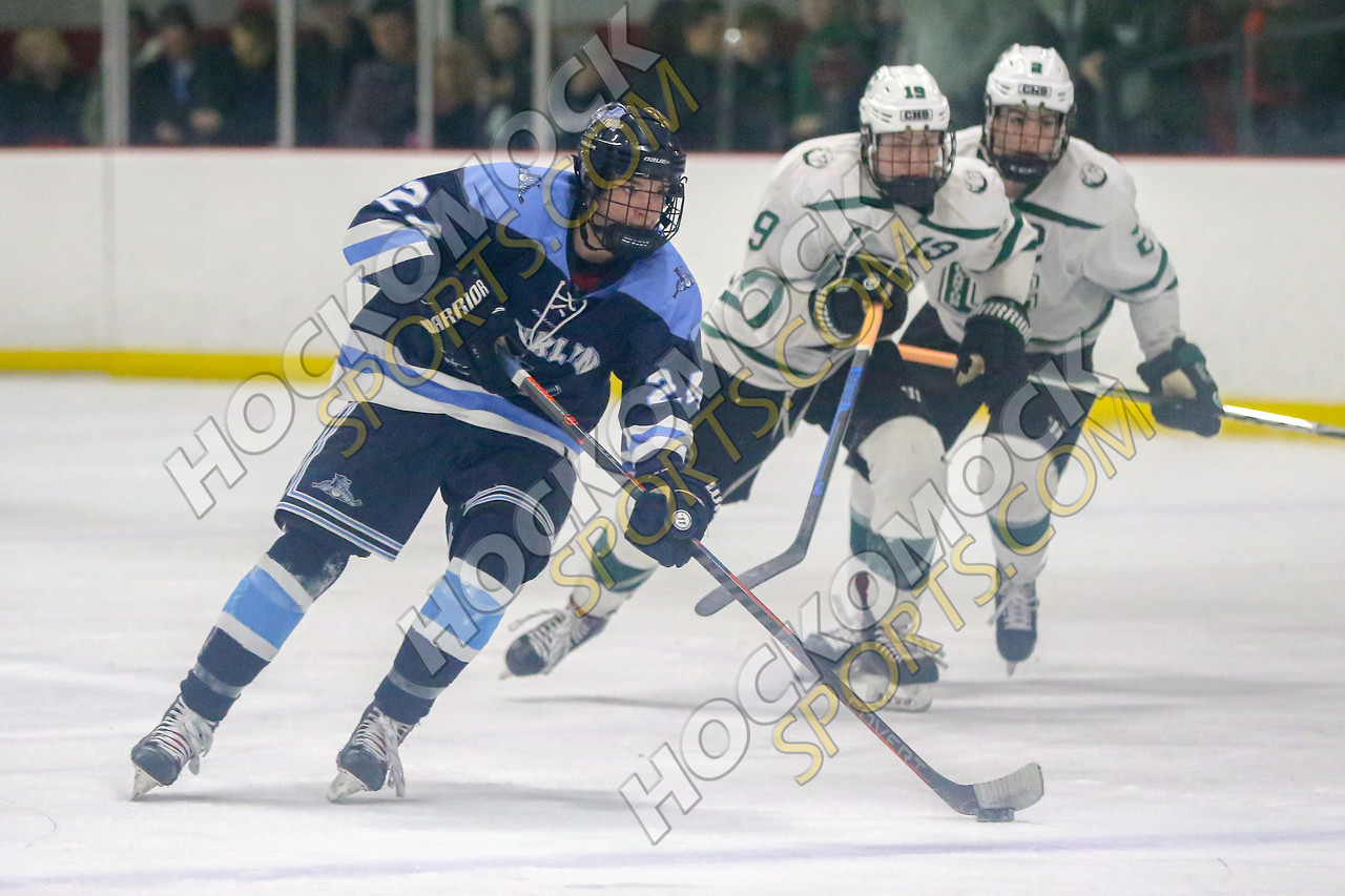 FHS Kyle Hedvig skates ahead of Canton (HockomockSports.com photo)