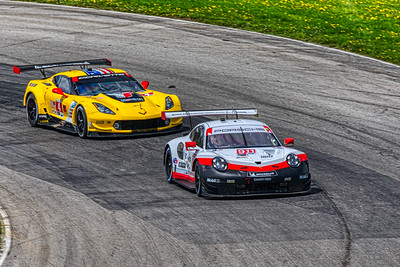 2019 Acura Sports Car Challenge at Mid-Ohio - Nick Tandy and Patrick Pilet in the #911 Porsche 911 RSR - Porsche GT Team AND Tommy Milner and Oliver Gavin the #4 Chevrolet Corvette C7.R - Corvette Racing