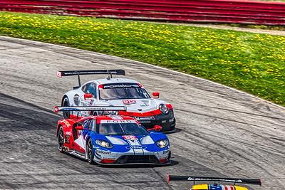 2019 Acura Sports Car Challenge at Mid-Ohio - Sebastien Bourdais and Dirk Miller in the #66 Ford GT - Ford Chip Ganassi Racing AND Laurens Vanthoor and Earl Bamber in the #912 Porsche 911 RSR - Porsche GT Team
