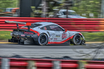 2019 Acura Sports Car Challenge at Mid-Ohio - Nick Tandy and Patrick Pilet in the #911 Porsche 911 RSR - Porsche GT Team