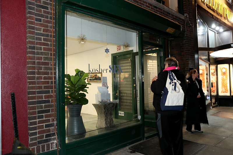 Grand Opening of kosher SEX POP-UP Shop, New York, USA