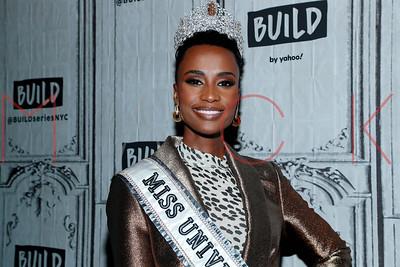 New York, NY - December 12:  Miss Universe, Zozibini Tunzi visits BUILD Series, New York, USA