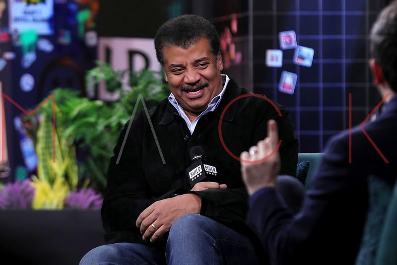 Neil deGrasse Tyson visits the BUILD Speaker Series, New York, USA