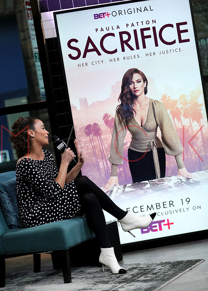 "Paula Patton visits BUILD Speaker Series: Discussing the Legal Thriller Movie ""Sacrifice"" For BET+ , New York, USA"