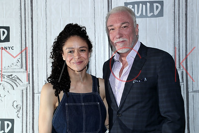 "New York, NY - May 31:  BUILD Series with Amber Gray and Patrick Page, discussing tne new musical ""Hadestown"", New York, USA."