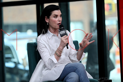 "New York, NY - May 23:  BUILD Series with Julianna Margulies, discussing her role in the new miniseries ""The Hot Zone""."