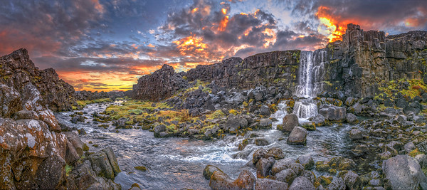 Sunset in Iceland. Copyright Wayne Heim