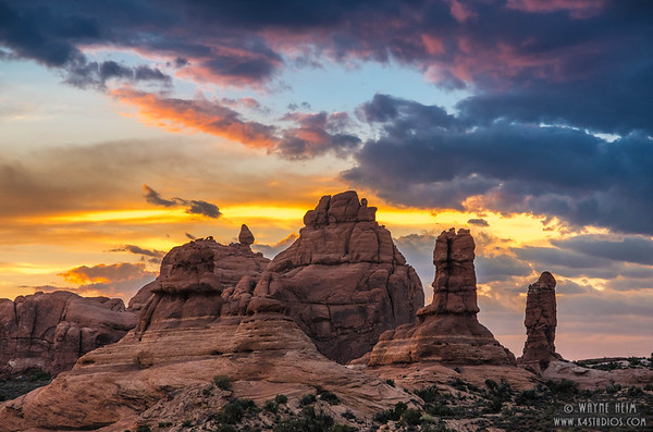 Sunset in Arches. #2 Photography by Wayne Heim