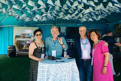 Past Napa Valley Vintners Board of Director Chairs Emma Swain, David Pearson, David Duncan and Paula Kornell