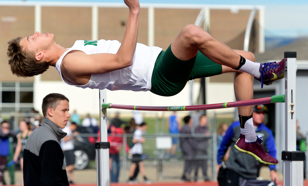 . LONGMONT, CO - April 20, 2019:  at the Boulder County Track and Field Championships in Longmont. (Photo by Cliff Grassmick/Staff Photographer)