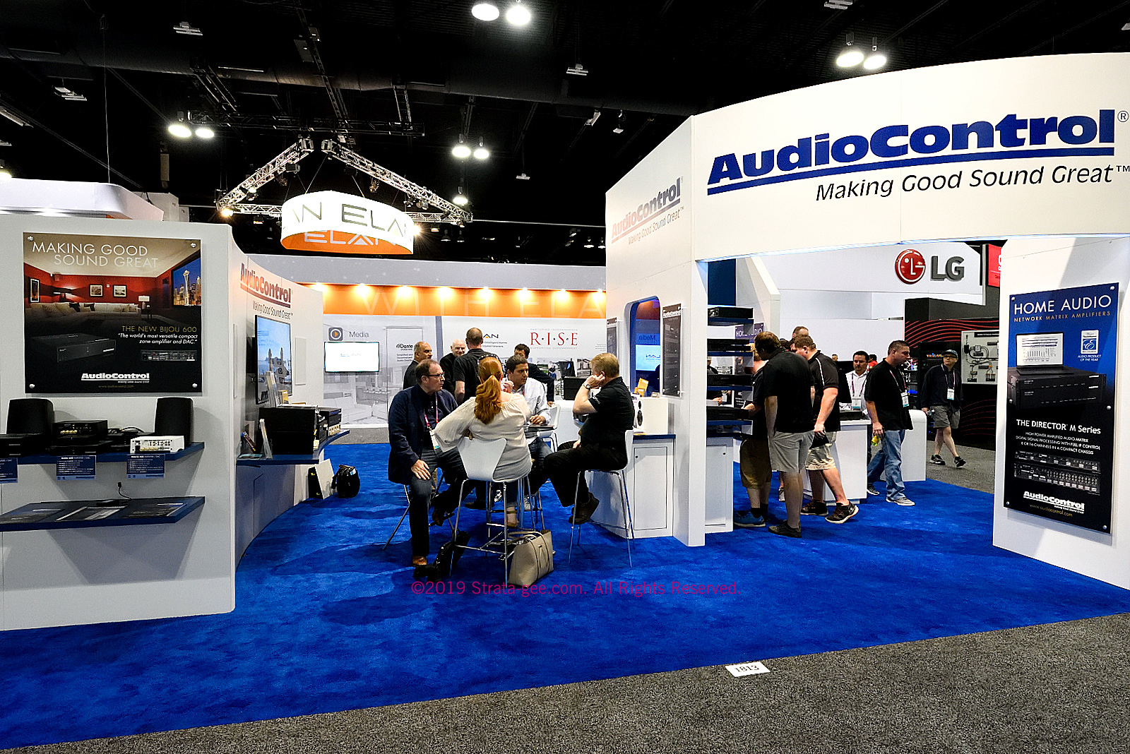 AudioControl's booth at CEDIA Expo 2019 - side view