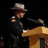 Deputy Sheriff Kevin Radovich addresses the audience.